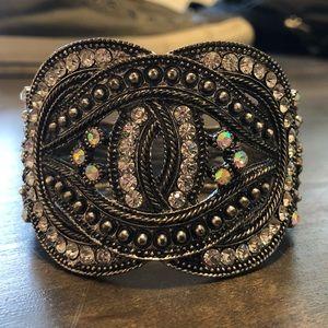Jewelry - Rhinestone Metal Cuff Knot Gothic Style Bracelet